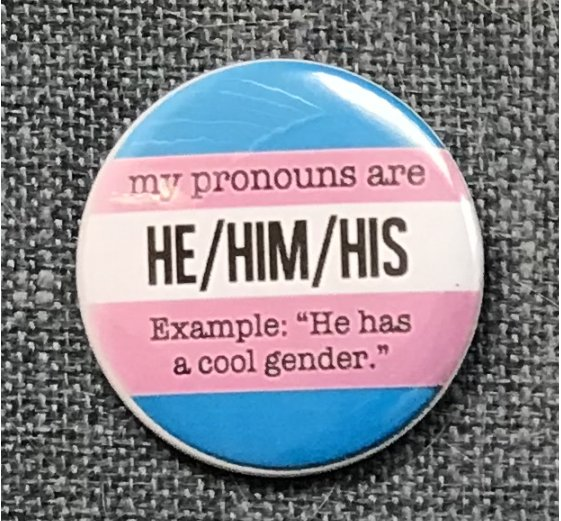 My Pronouns Are - He/Him/His